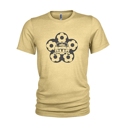 Mini Cooper and Flower Cool chilled classic car T-shirt