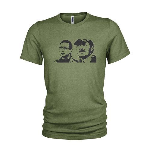Jaws film - Brody & Quint - Roy Scheider & Robert Shaw T-shirt