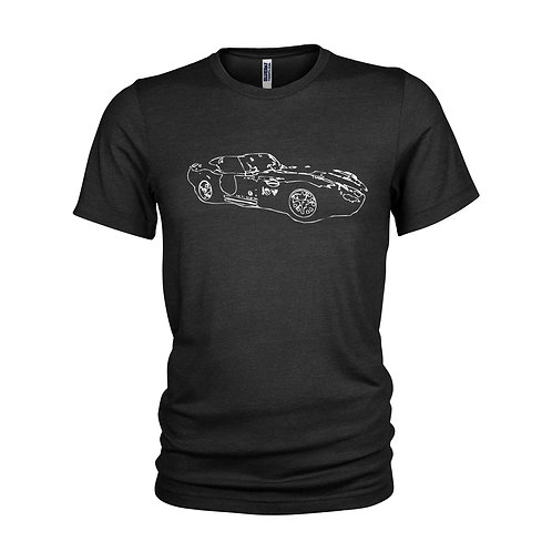 AC Cobra Daytona '60's iconic LE MANS Race car outline T-shirt