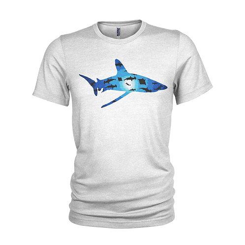 Oceanic White Tip Shark shoal conservation T-shirt