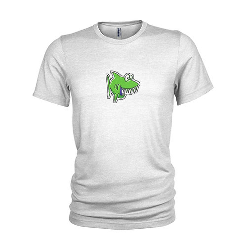Toy JAWS Green cartoon SHARK Scuba diving t-shirt