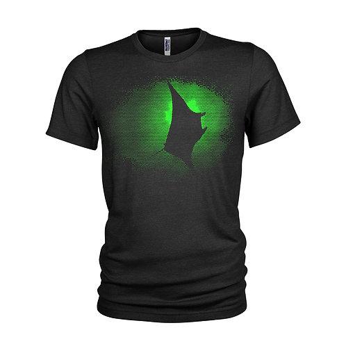 Giant Manta Ray Fluorescent green dot pattern scuba diving T-shirt