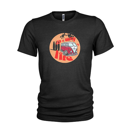 VW Campervan way of life surfing T-shirt