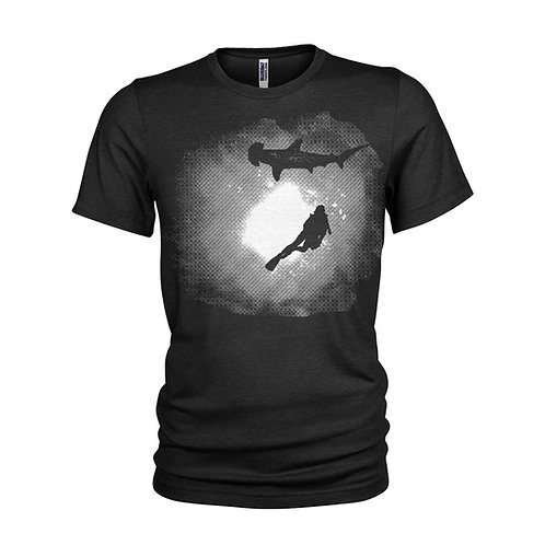 Night Diving with Hammerhead sharks T-shirt