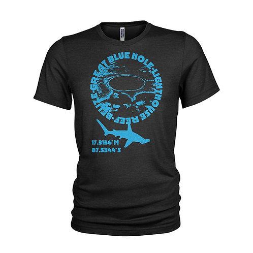 GREAT BLUE HOLE - Belize SCUBA dive site T-shirt
