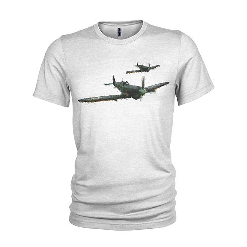 Spitfire in flight - WWII Aero icon T-shirt
