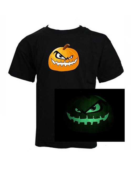 "KIDS - HALLOWEEN - Limited Edition ""GLOW in the DARK"" Scary PUMPKIN T-Shirt"