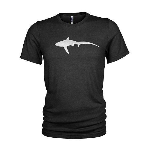 Metal Thresher Shark - Stylised metal foil Thresher shark scuba inspired T-shirt