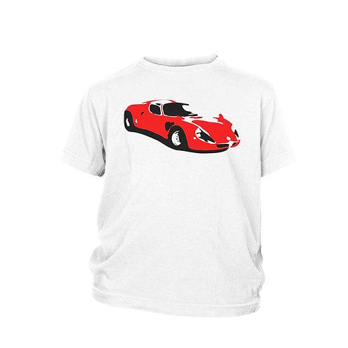 KIDS Alfa Romeo 33 Stradale  RED - Beautiful road racer classic car T-shirt