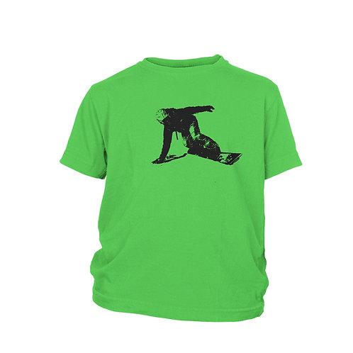 KIDS -  Snowboarding & skiing 'First Tracks' T-shirt
