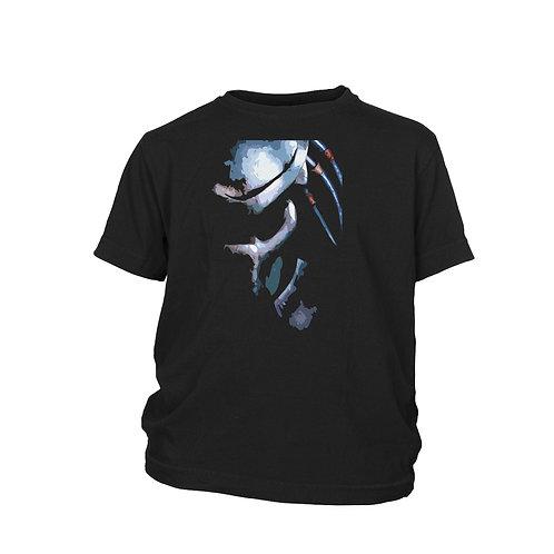 KIDS -Predator - BLUE stylized PREDATOR image  cult film T-shirt