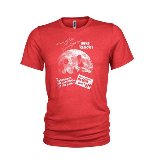 e5ced89937c6 The Eagles Hotel California surf shack tribute T-shirt