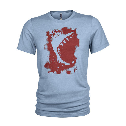 Great White Shark red T-shirt