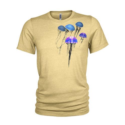 Pulsing Jellyfish multiprint ocean & scuba diving T-shirt
