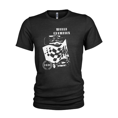 James Hunt Formula 1 legend 1976 World Champion inspired racing T-shirt