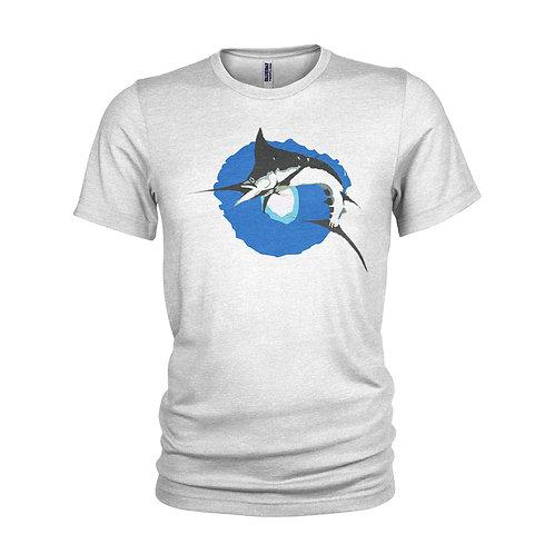 Black Marlin hunting scuba diving / Marlin fishing A3 T-shirt