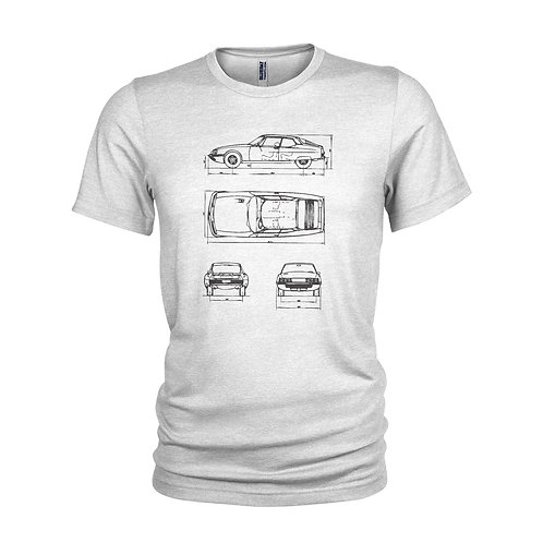 Citroën SM Uber cool 1970's Techno mobile classic car T-shirt