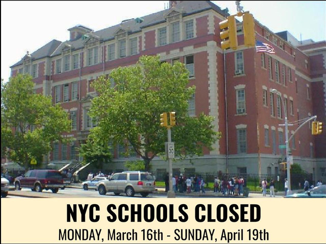 Sunset Park Prep closed Monday, March 16th - Sunday, April 19th
