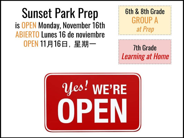Building is OPEN on Monday, Nov. 16th