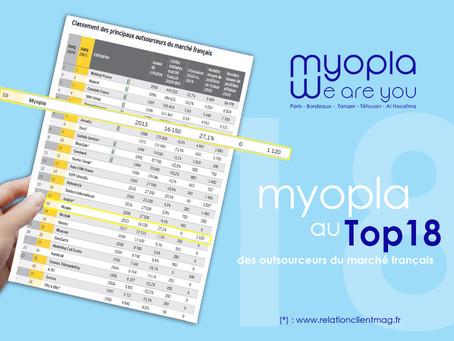 Myopla au top 18 des outsourceurs du marché français