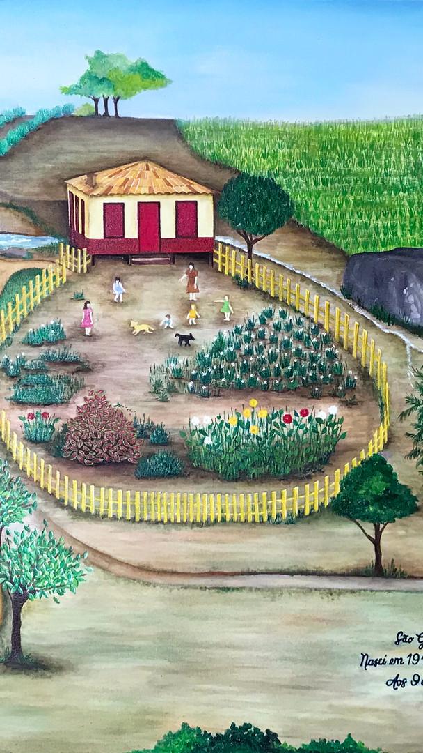 Recriação do cenário onde viveu a Sra. Margarida Maria Franklin da Silva em São Geraldo, Minas Gerais