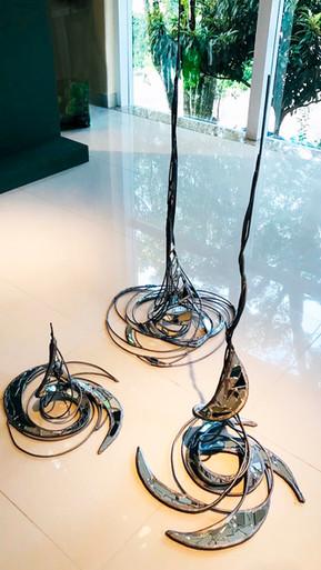 Prana, Pranee e Pranayama - Escultura feita em parceria com o artista Vanderlei Grützmann