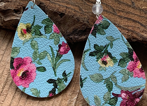 Vegan Leather Earrings - 005