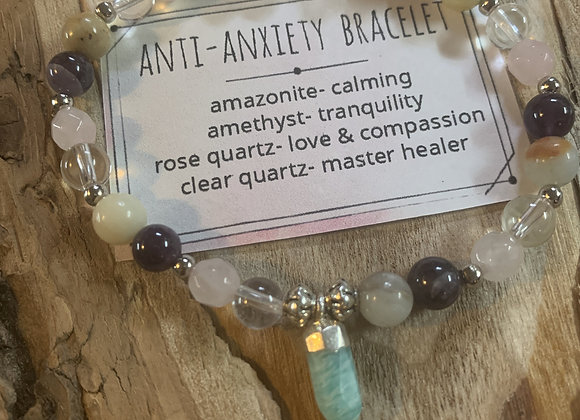 Anti-Anxiety Bracelet with Crystal Point