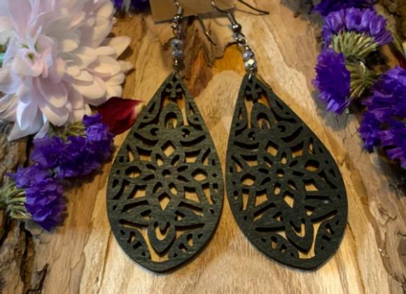 Wood Earrings - 004