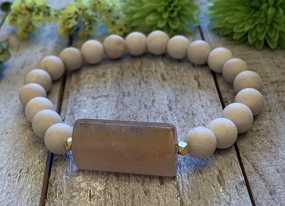 Peach Moonstone Bracelet
