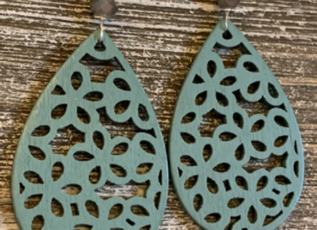 Wood Earrings - 0015