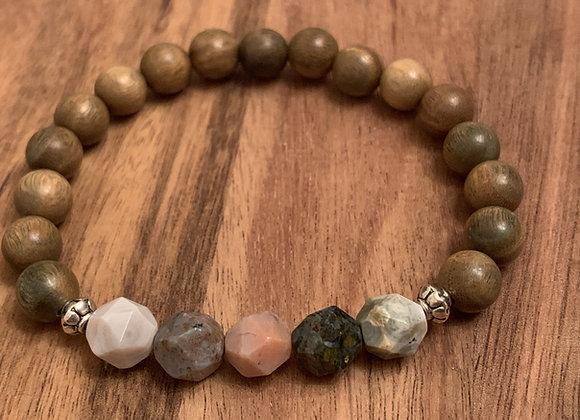 Inner Peace Tree Agate Bracelet