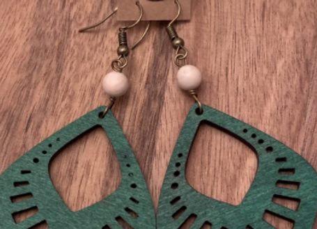 Wood Earrings - 009