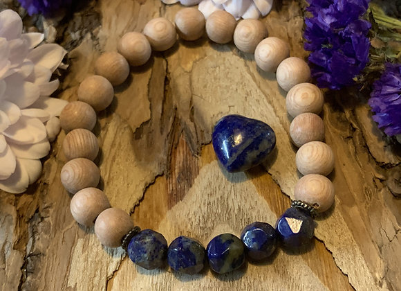 Lapis Bracelet and Heart Set