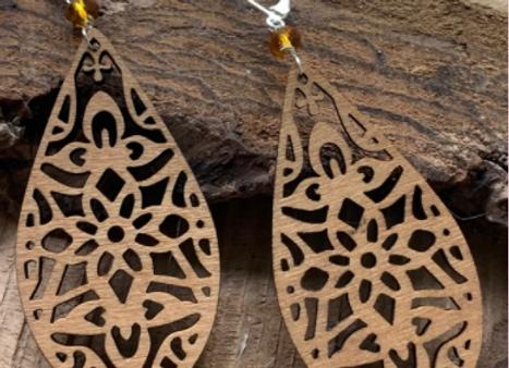 Wood Earrings - 0013