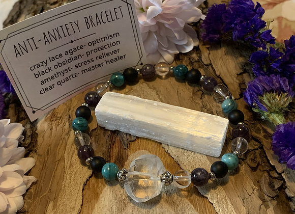 Anti-Anxiety Gemstone Bracelet and Selenite Stick