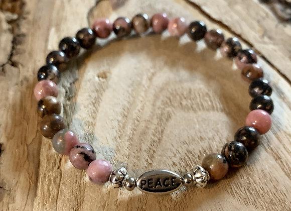 Inspirational Rhodonite Bracelet