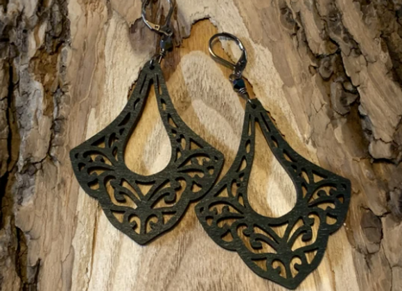 Wood Earrings - 002