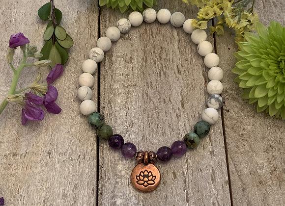 Copper Lotus Bracelet