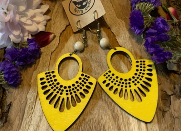 Wood Earrings - 003