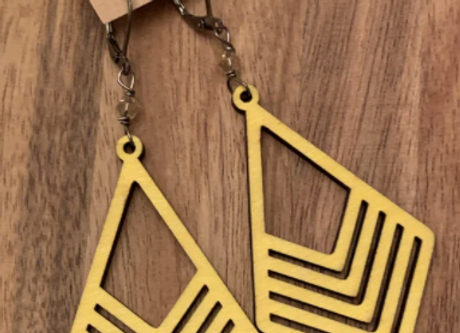 Wood Earrings - 008