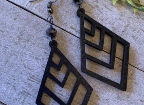Wood Earrings - 0010