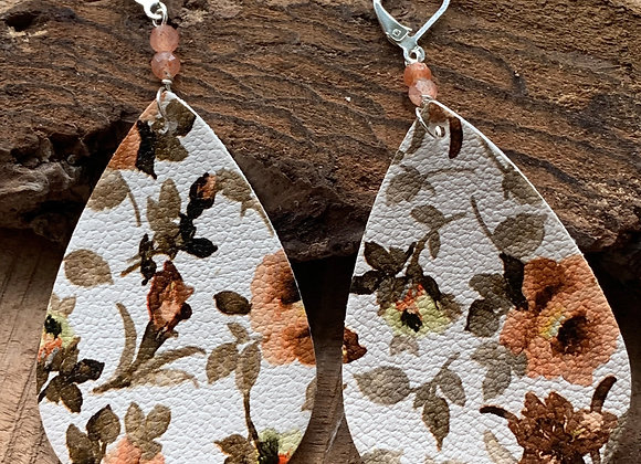 Vegan Leather Earrings - 003