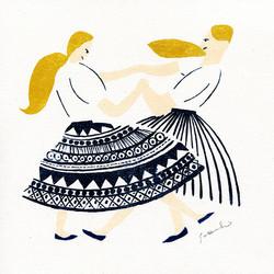 姉妹のダンス