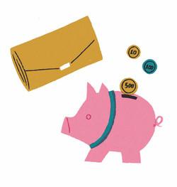 財布と貯金箱
