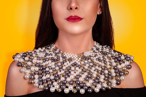Night Sky Pearl Necklace