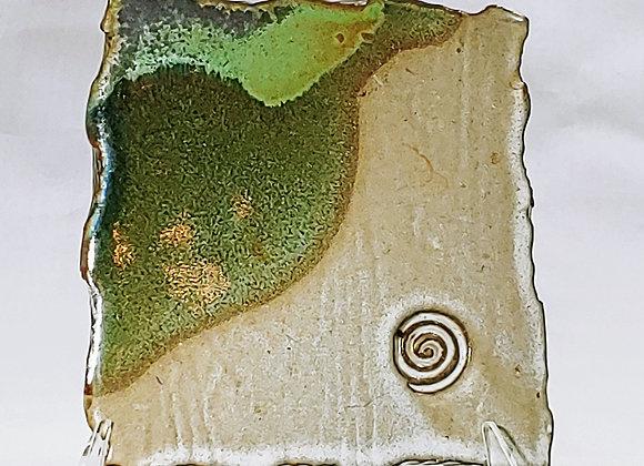 Soap Dish or Trivet –Diagonal Green