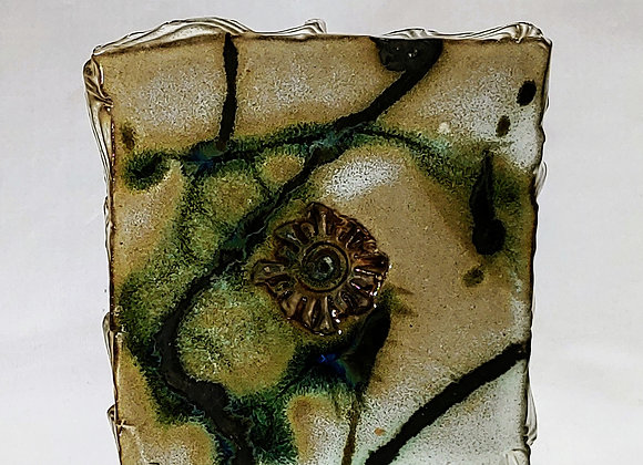 Soap Dish or Trivet –– Abstract Green