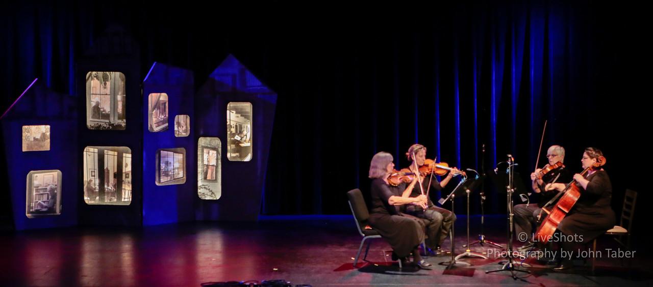 String Quartet with Stage Set