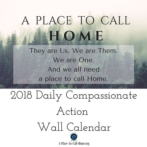 2018 Daily Compassionate Action Wall Calendar